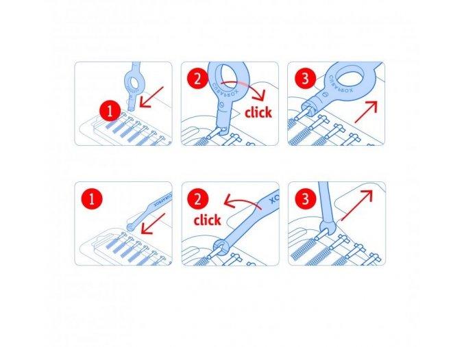 Curaprox Mezizubní kartáčky s držákem Prime 09 Plus 5 ks