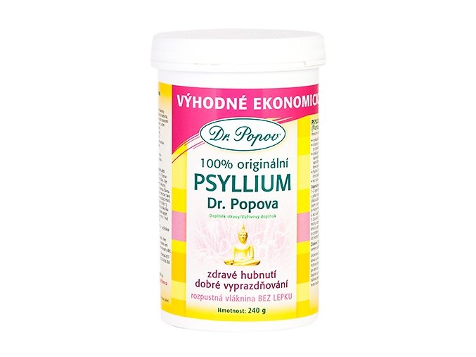Dr. Popov Psyllium indická rozpustná vláknina DÓZA 240 g