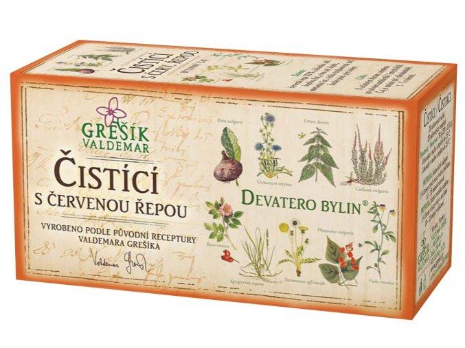 Grešík Čistící s červenou řepou čaj n.s. 20x1.5g Devatero bylin