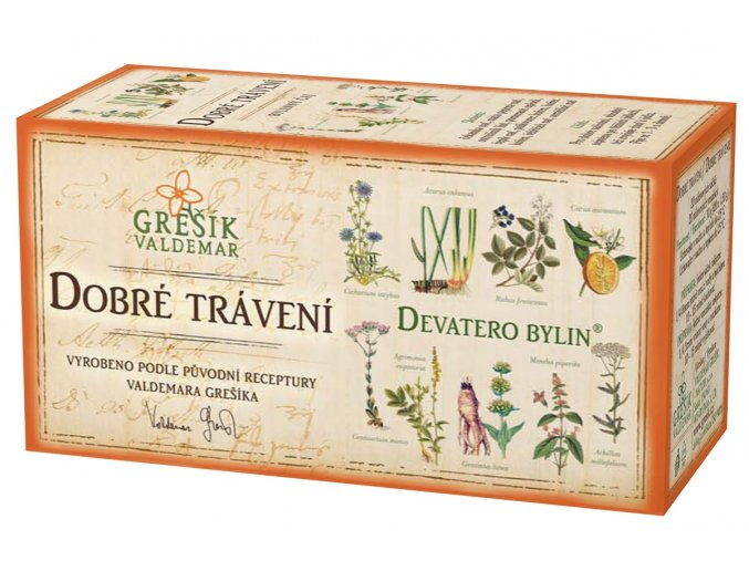 Grešík Dobré trávení čaj n.s. 20x1.5g Devatero bylin