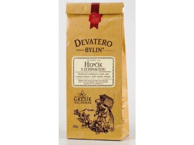 Grešík Hepčík s echinaceou čaj sypaný 50 g Devatero bylin
