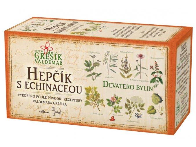 Grešík Hepčík s echinaceou čaj n.s. 20x1.5g Devatero bylin
