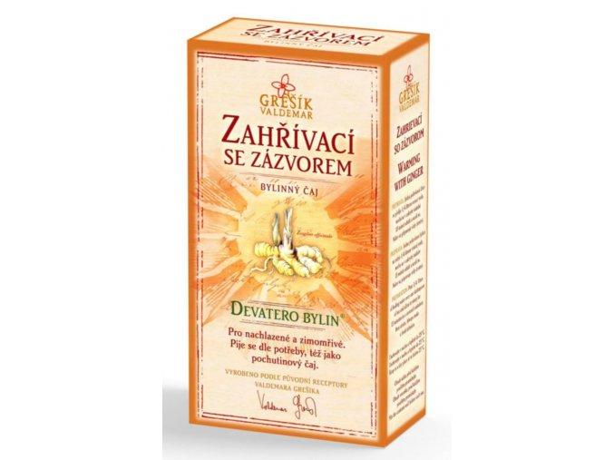 Grešík Zahřívací se zázvorem čaj sypaný 50 g Devatero bylin