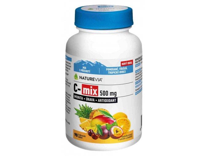 NatureVia C-MIX přírodní 500 mg 90 cucacích tablet