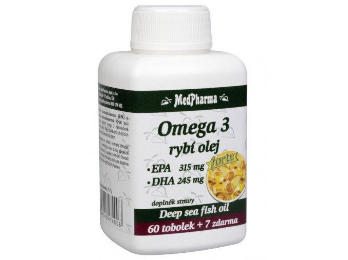 MedPharma Rybí olej Forte - EPA + DHA 60 tob. + 7 tob. ZDARMA