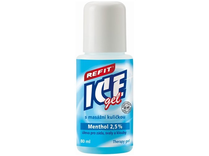 REFIT ICE GEL roll-on menthol 2,5 % na záda 80 ml