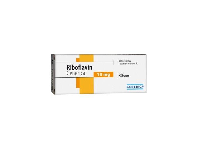 Generica Riboflavin 10 mg 30 tbl.
