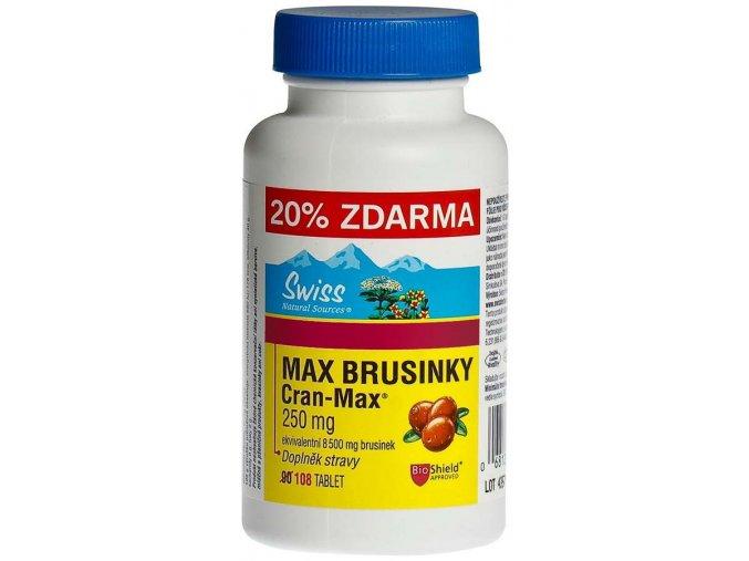 Swiss Max brusinky 8500mg 90 tbl.+ 18 tbl.
