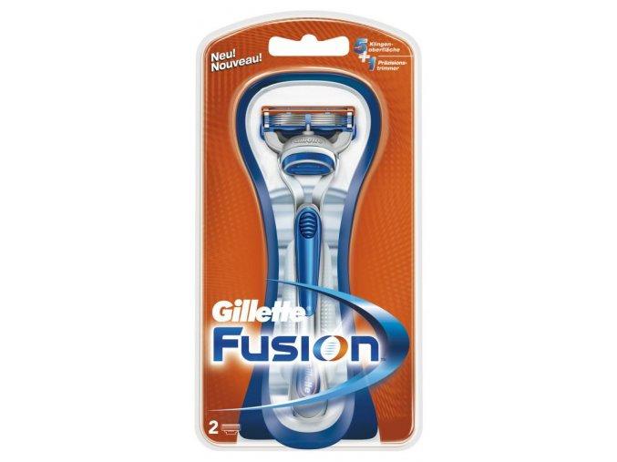 Gillette Holicí strojek Fusion + 2 náhradní břity
