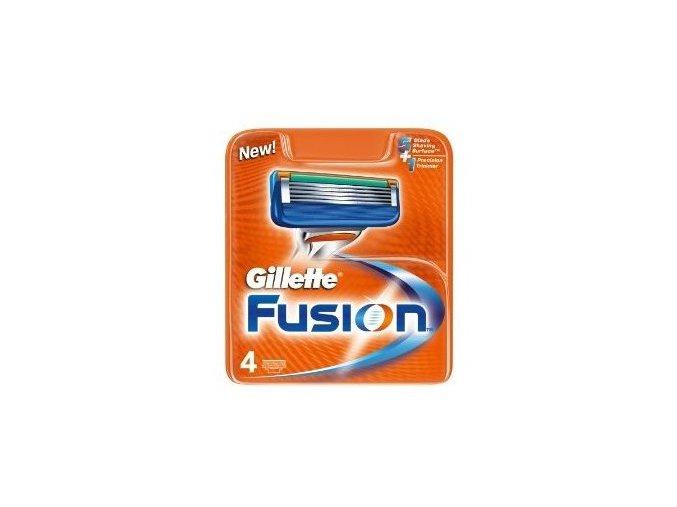 Gillette Náhradní hlavice Gillette Fusion 4 ks