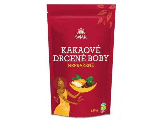 Iswari Bio Nepražené kakaové boby drcené 125 g