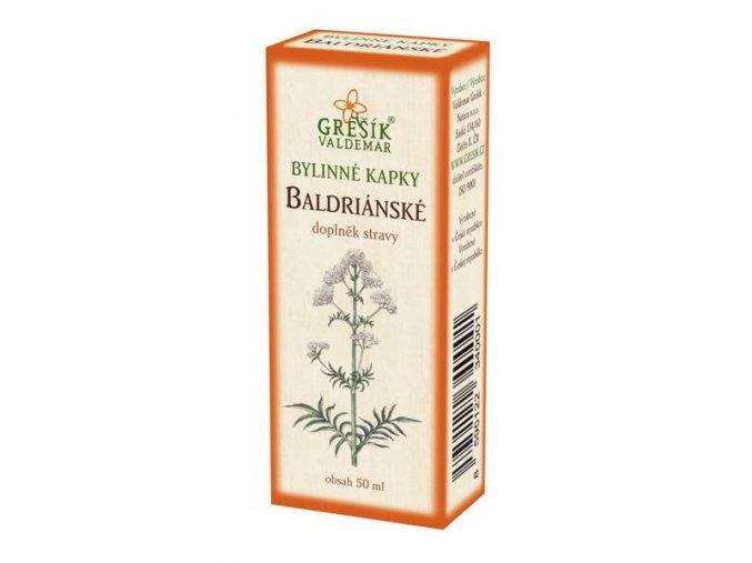 Grešík Baldriánské bylinné kapky 50 ml