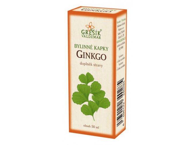 Grešík Ginkgo bylinné kapky 50 ml