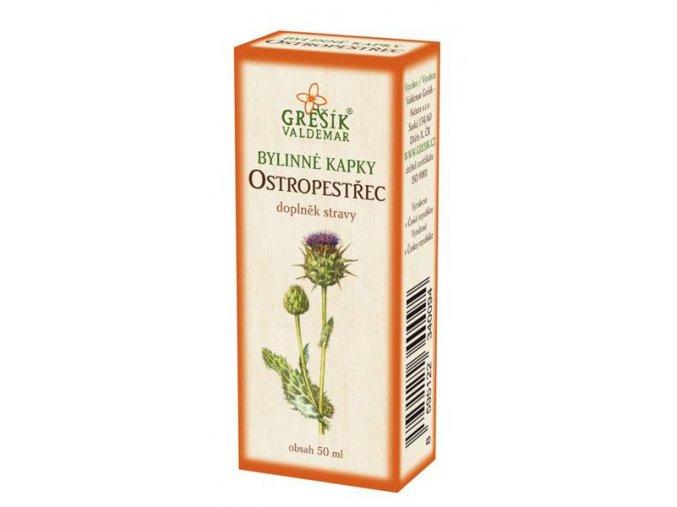 Grešík Ostropestřec bylinné kapky 50 ml