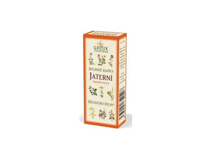 Grešík Jaterní bylinné kapky Devatero bylin 50 ml
