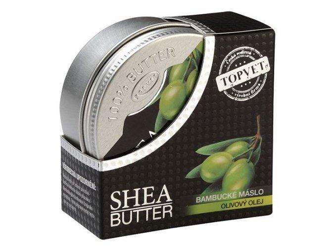 Topvet Bambucké máslo (shea butter 100%) s olivovým olejem 100 ml