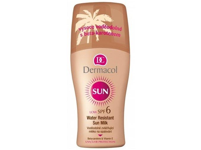 Dermacol Voděodolné zvláčňující mléko na opalování ve spreji SPF 6 Sun 200 ml