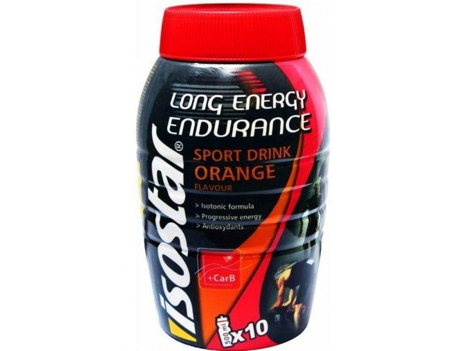 Isostar Long Energy Endurance příchuť Krvavý pomeranč 790 g (5l nápoje)