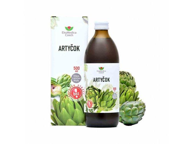 EkoMedica Artyčok - šťáva z artyčoku 99,8% 500 ml