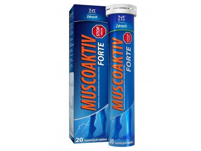 Zdrovit Muscoaktiv Stop křečím Forte šumivé tablety 20 tbl.
