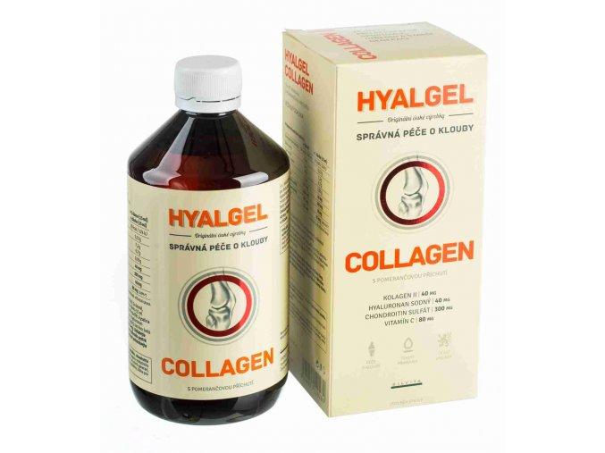 Silvita Hyalgel Collagen s pomerančovou příchutí 500 ml