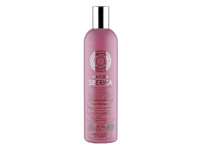 Natura Siberica Šampon pro barvené a poškozené vlasy - ochrana a lesk 400 ml