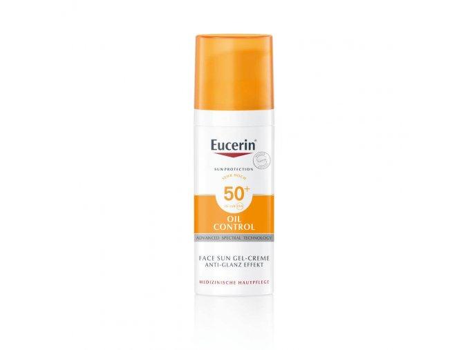 Eucerin Sun Ochranný krémový gel na opalování na obličej Oil Control SPF50+ 50 ml