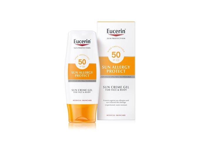 Eucerin Sun Ochranný krémový gel na opalování proti sluneční alergii SPF50 150 ml