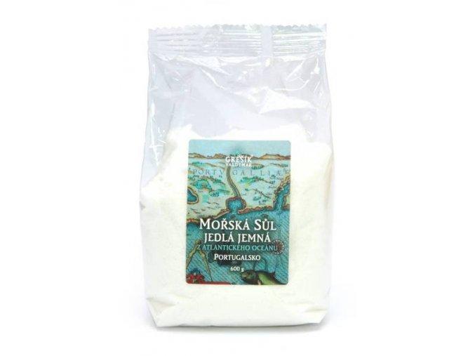Grešík Sůl Mořská jedlá jemná 600 g