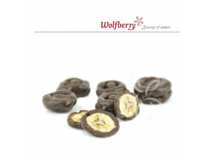Wolfberry Bio Banány v hořké čokoládě 150 g