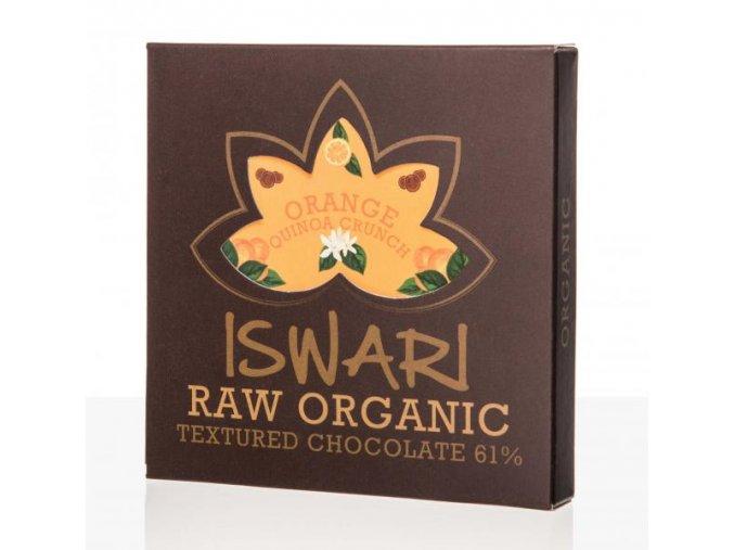 Iswari Bio Čokoláda Orange Quinoa Crunch Raw 75 g