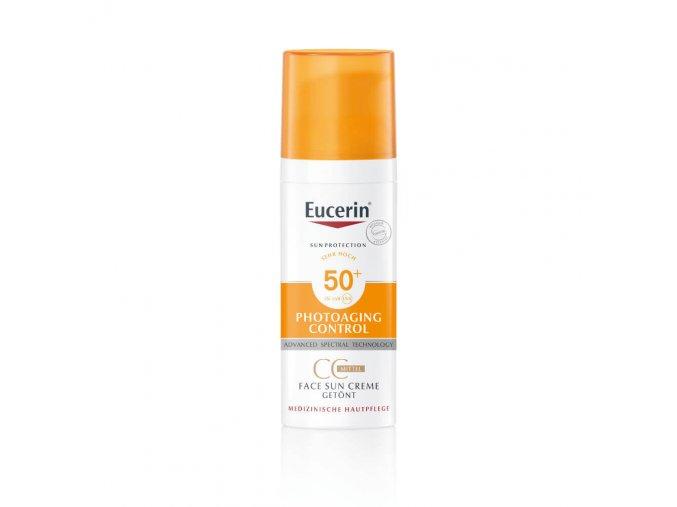 Eucerin Sun CC krém na opalování na obličej SPF 50+ středně tmavý 50 ml