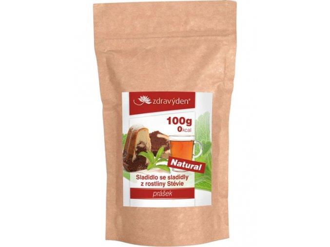 sladidlo se sladidly z rostliny stevie 100g