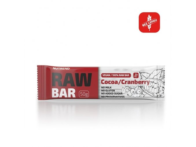 Nutrend Raw Bar Kakao + brusinka 50 g