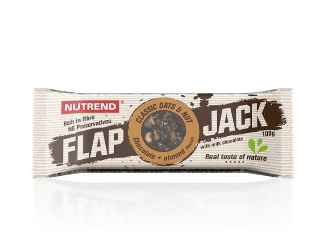Nutrend Flapjack Čokoláda + mandle s mléčnou čokoládou 100 g