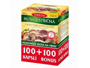 Terazia Hlíva ústřičná s rakytníkovým olejem 100 kapslí + 100 kapslí ZDARMA
