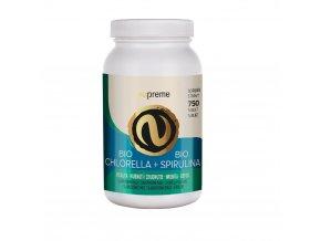 es bio chlorella spirulina jumbo tablety+Cordyceps zdarma