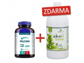 melatonin forte+aloe vera live 1but zdarma