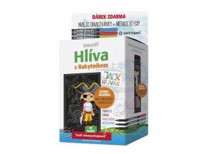 Imunit Hlíva ústřičná pro děti s rakytníkem Jack Hlívák 60 tbl.  + Magic omalovánky + metalické fixy ZDARMA