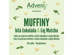 muffiny bila cokolada caj matcha