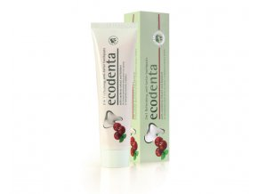 ecodenta 2in1 refreshing anti tartar toothpaste with cranberry extract and kalident 100 ml