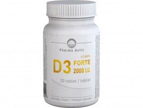 Pharma Active Vitamin D3 FORTE 2000 I.U. 30 tbl.