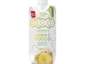 Ococo BIO 100% Kokosovo-ananasová voda 330 ml