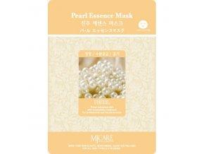 MJ Care - PERLY - luxusní látková pleťová maska pro všechny typy pleti, zejména pro povadlou a suchou pokožku 23 g