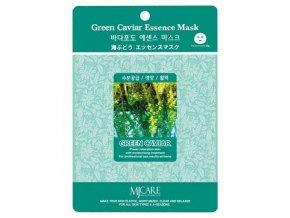 MJ Care - ZELENÝ KAVIÁR - luxusní látková pleťová maska pro všechny typy pleti, zejména pro pleť suchou a matnou 23 g