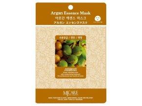 MJ Care - ARGAN - luxusní látková pleťová maska pro všechny typy pleti, zejména pro pleť suchou a matnou 23 g