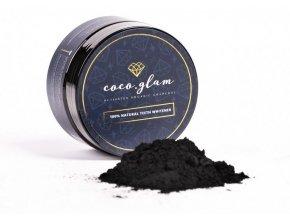 Coco Glam BIO Přírodní prášek pro bělení zubů s aktivním uhlím 30 g