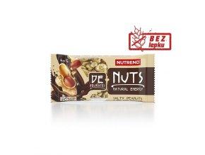Nutrend DeNuts Slané arašídy v hořké čokoládě 40 g
