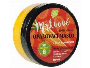 Vivaco 100% přírodní mrkvové opalovací máslo SPF6 s beta karotenem 150 ml