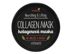 Vivaco Vyživující kolagenová maska s kyselinou hyaluronovou 100 ml